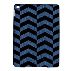 Chevron2 Black Marble & Blue Denim Apple Ipad Air 2 Hardshell Case by trendistuff