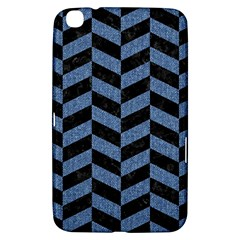 Chevron1 Black Marble & Blue Denim Samsung Galaxy Tab 3 (8 ) T3100 Hardshell Case  by trendistuff