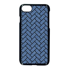Brick2 Black Marble & Blue Denim (r) Apple Iphone 7 Seamless Case (black) by trendistuff