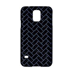 Brick2 Black Marble & Blue Denim Samsung Galaxy S5 Hardshell Case  by trendistuff
