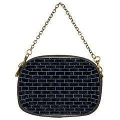 Brick1 Black Marble & Blue Denim Chain Purse (one Side) by trendistuff