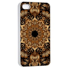 3d Fractal Art Apple Iphone 4/4s Seamless Case (white)