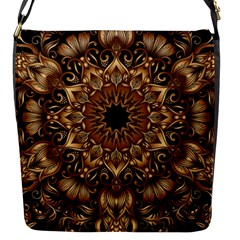 3d Fractal Art Flap Messenger Bag (s) by Simbadda