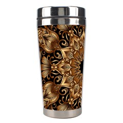 3d Fractal Art Stainless Steel Travel Tumblers by Simbadda