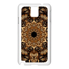 3d Fractal Art Samsung Galaxy Note 3 N9005 Case (white) by Simbadda
