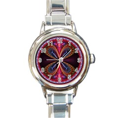 3d Abstract Ring Round Italian Charm Watch by Simbadda