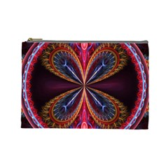 3d Abstract Ring Cosmetic Bag (large)