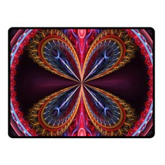 3d Abstract Ring Fleece Blanket (small) by Simbadda