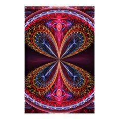3d Abstract Ring Shower Curtain 48  X 72  (small)