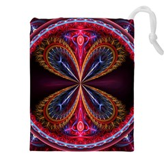 3d Abstract Ring Drawstring Pouches (xxl)