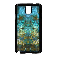 Blue Gold Modern Abstract Geometric Samsung Galaxy Note 3 Neo Hardshell Case (black) by CrypticFragmentsColors