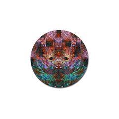 Modern Abstract Geometric Art Rainbow Colors Golf Ball Marker by CrypticFragmentsColors