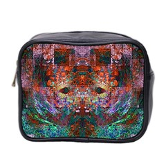 Modern Abstract Geometric Art Rainbow Colors Mini Toiletries Bag 2 Side by CrypticFragmentsColors