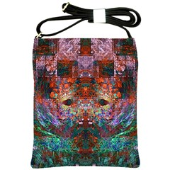Modern Abstract Geometric Art Rainbow Colors Shoulder Sling Bags by CrypticFragmentsColors