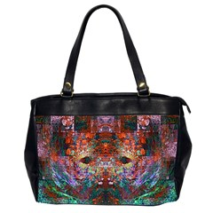Modern Abstract Geometric Art Rainbow Colors Office Handbags (2 Sides)  by CrypticFragmentsColors