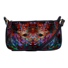 Modern Abstract Geometric Art Rainbow Colors Shoulder Clutch Bags by CrypticFragmentsColors