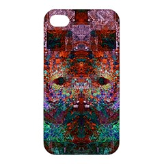 Modern Abstract Geometric Art Rainbow Colors Apple Iphone 4/4s Premium Hardshell Case by CrypticFragmentsColors