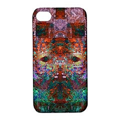 Modern Abstract Geometric Art Rainbow Colors Apple Iphone 4/4s Hardshell Case With Stand by CrypticFragmentsColors