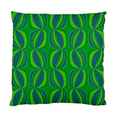 Blue Green Ethnic Print Pattern Standard Cushion Case (one Side) by CrypticFragmentsColors