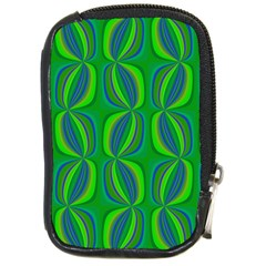 Blue Green Ethnic Print Pattern Compact Camera Cases by CrypticFragmentsColors