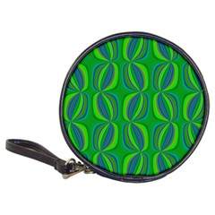 Blue Green Ethnic Print Pattern Classic 20 Cd Wallets by CrypticFragmentsColors
