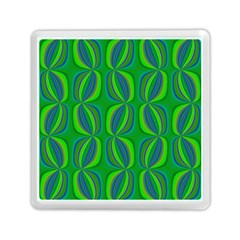 Blue Green Ethnic Print Pattern Memory Card Reader (square)  by CrypticFragmentsColors