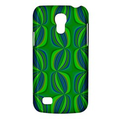 Blue Green Ethnic Print Pattern Galaxy S4 Mini by CrypticFragmentsColors
