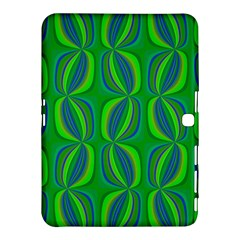 Blue Green Ethnic Print Pattern Samsung Galaxy Tab 4 (10 1 ) Hardshell Case  by CrypticFragmentsColors