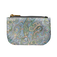 Paisley Boho Hippie Retro Fashion Print Pattern  Mini Coin Purses by CrypticFragmentsColors