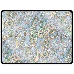 Paisley Boho Hippie Retro Fashion Print Pattern  Fleece Blanket (large)  by CrypticFragmentsColors