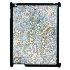 Paisley Boho Hippie Retro Fashion Print Pattern  Apple Ipad 2 Case (black) by CrypticFragmentsColors