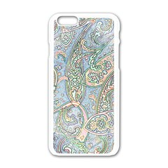 Paisley Boho Hippie Retro Fashion Print Pattern  Apple Iphone 6/6s White Enamel Case by CrypticFragmentsColors