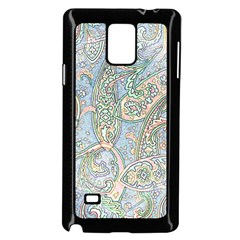 Paisley Boho Hippie Retro Fashion Print Pattern  Samsung Galaxy Note 4 Case (black) by CrypticFragmentsColors