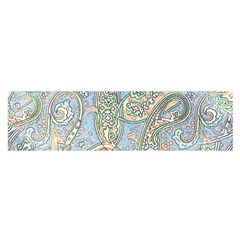 Paisley Boho Hippie Retro Fashion Print Pattern  Satin Scarf (oblong) by CrypticFragmentsColors