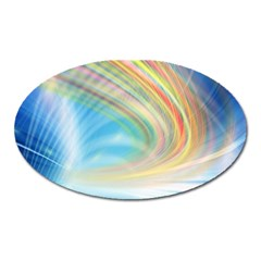 Glow Motion Lines Light Oval Magnet