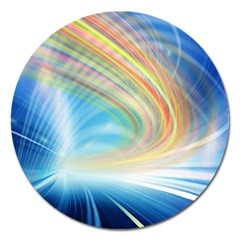 Glow Motion Lines Light Magnet 5  (round) by Alisyart
