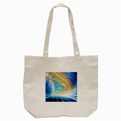 Glow Motion Lines Light Tote Bag (cream)