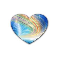 Glow Motion Lines Light Heart Coaster (4 Pack)