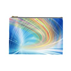 Glow Motion Lines Light Cosmetic Bag (large)