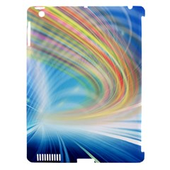 Glow Motion Lines Light Apple Ipad 3/4 Hardshell Case (compatible With Smart Cover) by Alisyart