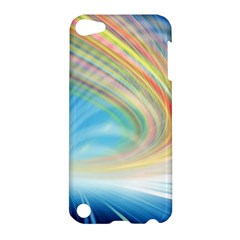 Glow Motion Lines Light Apple Ipod Touch 5 Hardshell Case by Alisyart