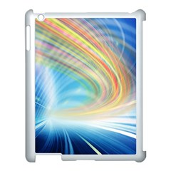 Glow Motion Lines Light Apple Ipad 3/4 Case (white)