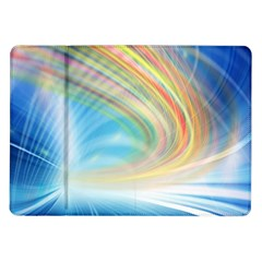 Glow Motion Lines Light Samsung Galaxy Tab 10 1  P7500 Flip Case