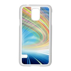 Glow Motion Lines Light Samsung Galaxy S5 Case (white)