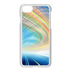 Glow Motion Lines Light Apple Iphone 7 Seamless Case (white) by Alisyart