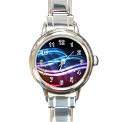 Illustrations Color Purple Blue Circle Space Round Italian Charm Watch by Alisyart