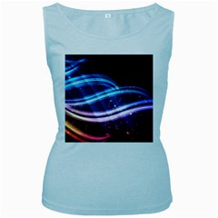 Illustrations Color Purple Blue Circle Space Women s Baby Blue Tank Top