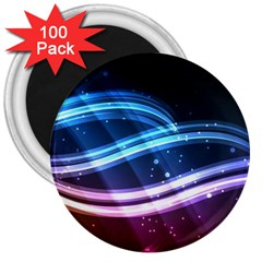Illustrations Color Purple Blue Circle Space 3  Magnets (100 Pack)