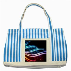 Illustrations Color Purple Blue Circle Space Striped Blue Tote Bag