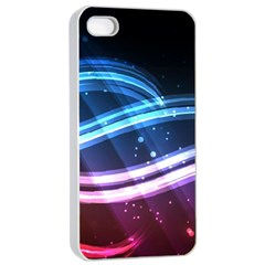 Illustrations Color Purple Blue Circle Space Apple Iphone 4/4s Seamless Case (white)